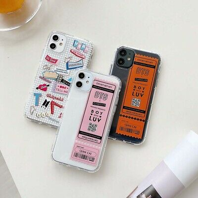 bts boy lable clear soft fashion creative phone case cover for iphone11promax