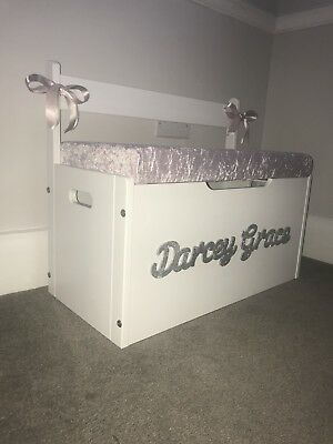 Extra Large Personalised Seated Toy Box New Size