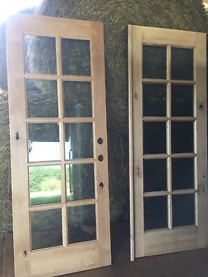 New Solid Wood Exterior French Doors 60 X 80 Arrived Wrong Style Need To