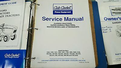 safety assembly operation tips techniques maintenance troubleshooting   manual-service owner  cub cadet super garden tractor