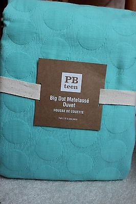 Pottery Barn Dot Matele Twin Duvet Cover New Pool Color