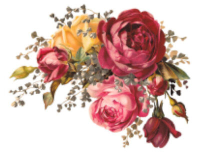 Vintage Image Shabby Roses Furniture Transfers Decoupage Waterslide Decals Fl429